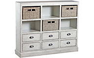 Powell Currituck Cream Storage Console with Baskets