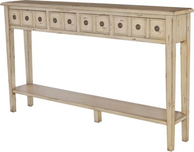 Powell Sadie Cream 4-Drawer Storage Console