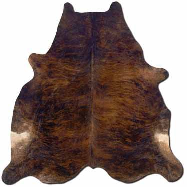 Powell Cowhide Dark Oversized Rug