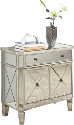 Powell Mirrored Storage Console