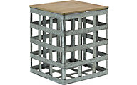 Powell Galvanized Side Table