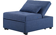 Powell Dozers Blue Convertible Chaise