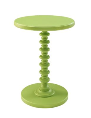 Powell Lime Green Spindle Table