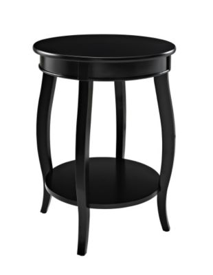 Powell Black Accent Table