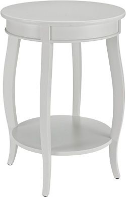 Powell White Accent Table