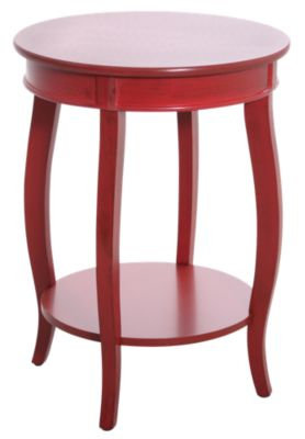 Powell Red Accent Table