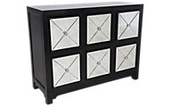 Powell 6-Drawer Mirrored Console