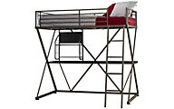 Powell Z Twin Metal Loft Bed with Desk