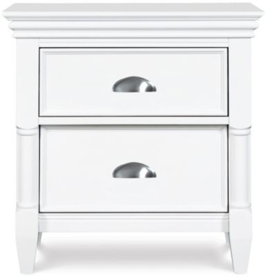 Magnussen Kasey Drawer White Nightstand