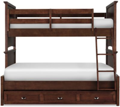 Magnussen Riley Twin/Full Storage Bunk Bed with Trundle