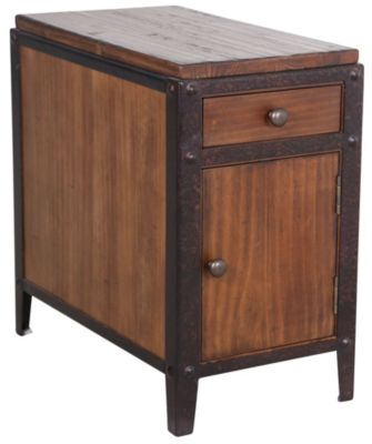 Presidential Pinebrook Chairside Table with Door