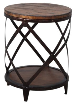 Presidential Pinebrook Round End Table