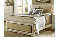 Progressive Willow White Queen Upholstered Bed