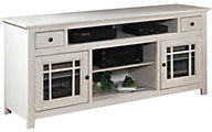 Progressive Emerson Hills 74-Inch White TV Stand