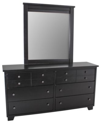 Progressive Diego Black Dresser with Mirror