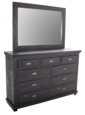 Progressive Willow Black Dresser with Mirror