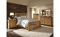 Progressive Willow Pine 4-Piece King Bedroom Set