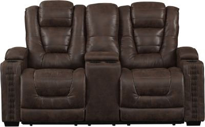 Pri Big Chief Power Recline Console Loveseat