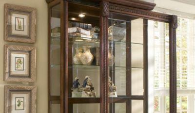 Pulaski Medallion Two-Way Sliding Door Curio