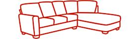 Left-facing (LAF) sofa sectional