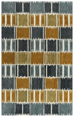 Rizzy Tetra 5' X 8' Brown and Gray Rug