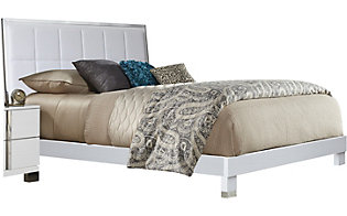 Rotta Venezia White Queen Upholstery Bed