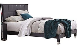 Rotta Venezia Black Queen Upholstered Bed