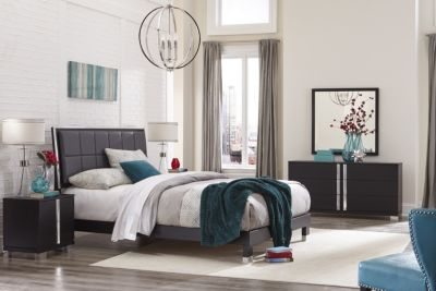 Rotta Venezia Black 4-Piece Queen Bedroom Set