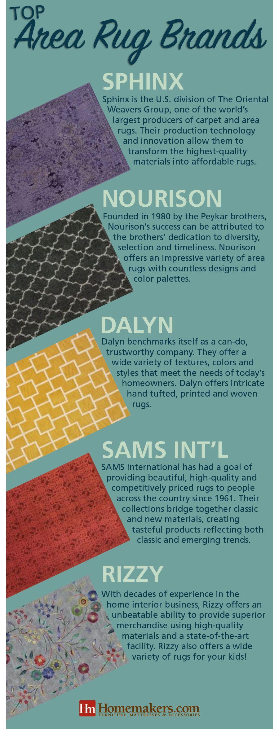 Best Area Rug Brands infographic