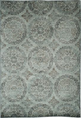 Sams International Sonoma Blue/Chocolate 5' X 8' Rug
