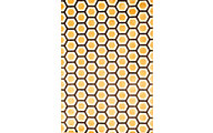 Sams International Sonoma Honeycomb Tangerine 5' X 8' Rug