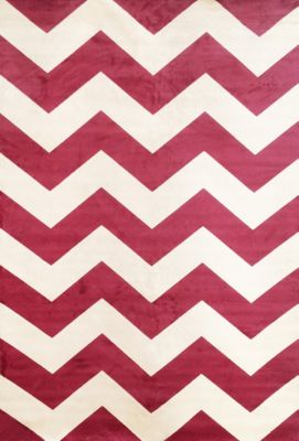 Sams International Sonoma Chevron Cranberry 5' X 8' Rug