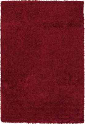 Sams International Domino 8' X 11' Red Rug