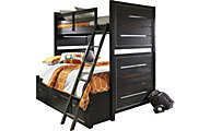 Samuel Lawrence Graphite Twin/Full Bunk Bed
