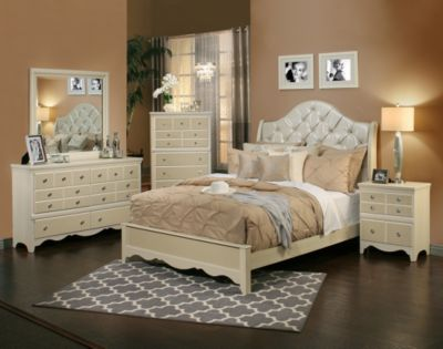 Sandberg Furniture Marilyn 4-Piece Queen Bedroom Set | Homemakers ...