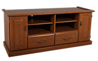 Sauder Orchard Hills 60-Inch Oak Entertainment Console