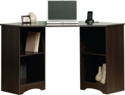 Sauder Beginnings Cinnamon Cherry Corner Desk
