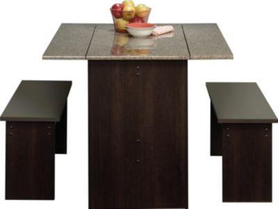 Sauder Beginnings Trestle 3 Piece Table Amp Bench Set