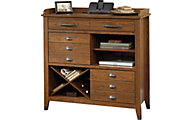 Sauder Carson Forge Sideboard With Wine Rack