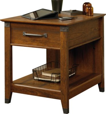Sauder Carson Forge End Table with Charging Station