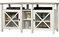 Sauder Cottage Road White TV Console