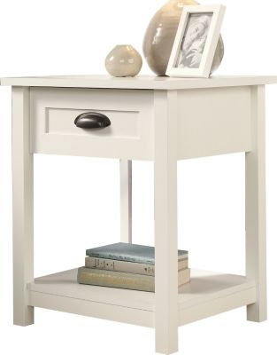 Sauder County Line White Open Nightstand