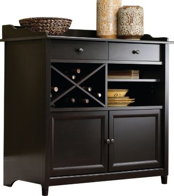 Sauder Edge Water Buffet with Wine Rack