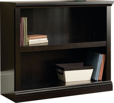 Sauder Select 2-Shelf Estate Black Bookcase