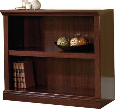 Sauder Select 2-Shelf Cherry Short Bookcase