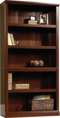 Sauder Select 5-Shelf Cherry Bookcase