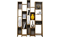 Sauder Soft Modern Geometric Tall Bookcase