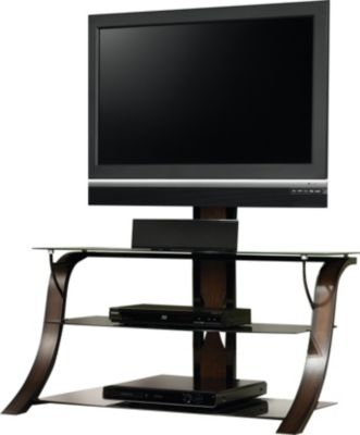 Sauder Select Black Cherry TV Stand with Mount