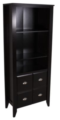 Sauder Shoal Creek Bookcase with Doors