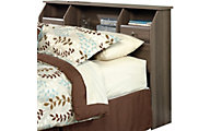 Sauder Shoal Creek Ash Twin Bookcase Headboard